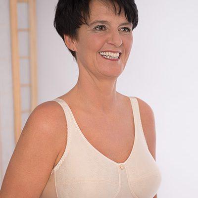 Spezial BH für brustoperierte Frauen, Modell Lady Rose BH Art. 103 in beige