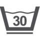 Textilsymbol: Bei 30 Grad schonend waschen