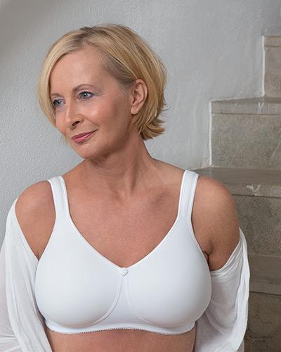 Spezial BH für brustoperierte Frauen, Modell Soft Shape T-Shirt BH Art. 515 in weiß
