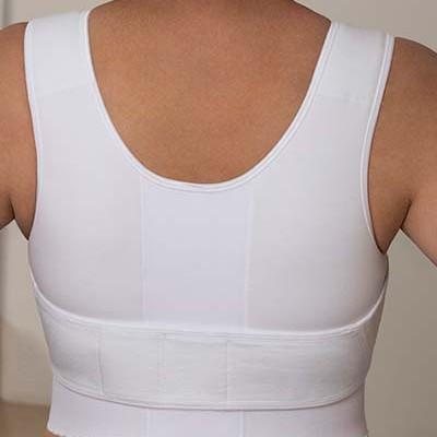 Rückenansicht Compressions Bandage mit Belt(Gürtel) Art. 519 in weiss