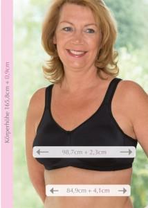 Neuen Körpermaße der Frauen von heute