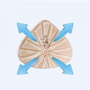 Belüftung der Brustprothese Massageform