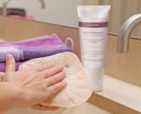 Massageform-Attach-reinigen